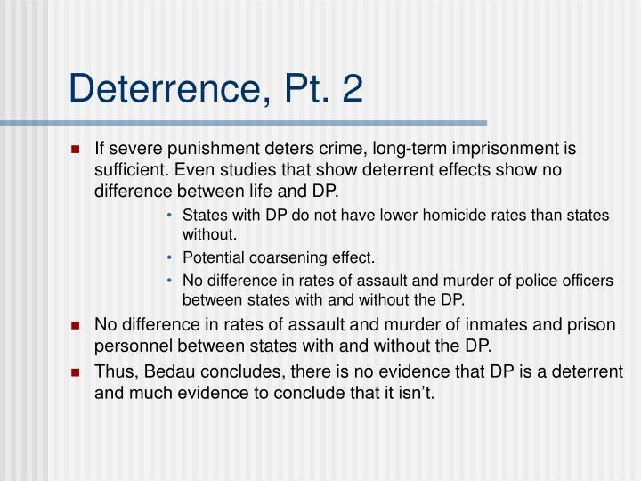 Deterrence, Pt. 2