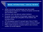 model international judicail review