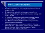 model legislative review