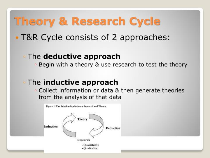 T&R Cycle consists of 2 approaches: