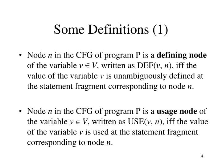 Some Definitions (1)