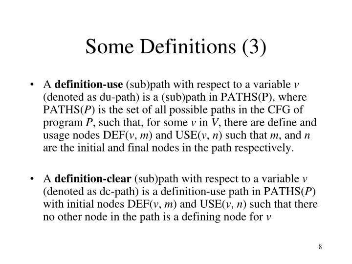 Some Definitions (3)