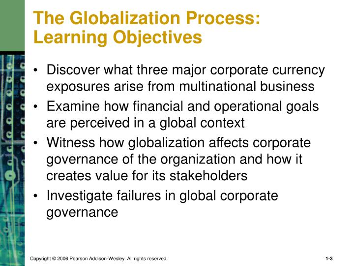 The globalization process learning objectives1
