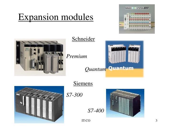 Expansion modules