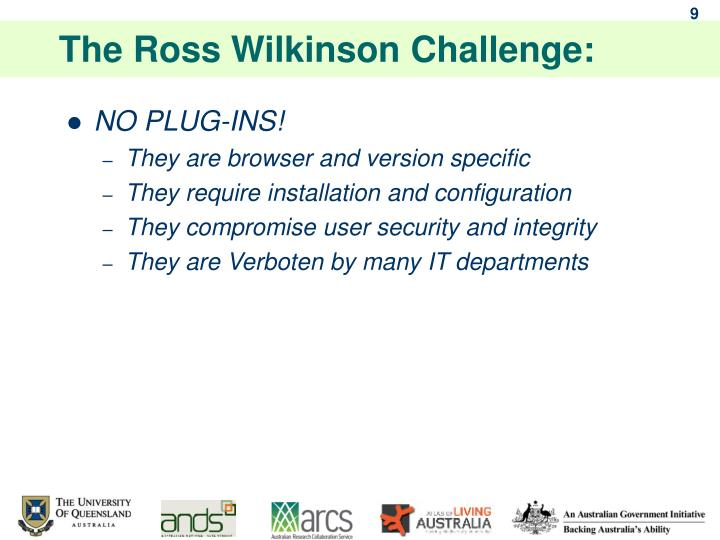 The Ross Wilkinson Challenge: