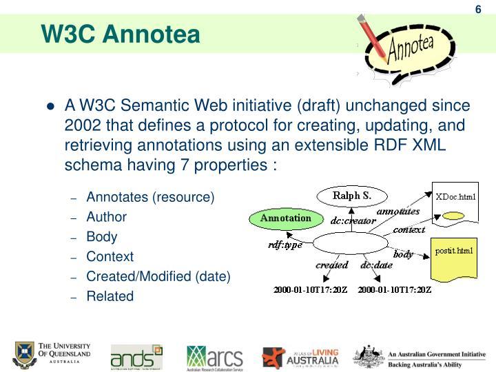 W3C Annotea