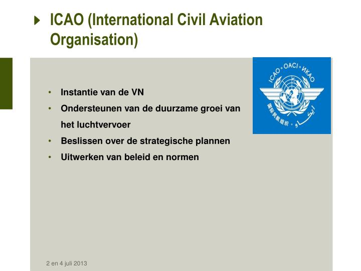 Icao international civil aviation organisation
