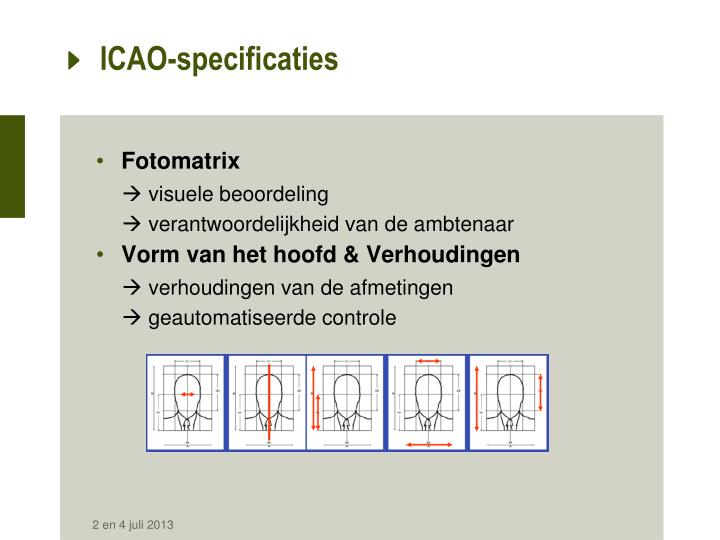 ICAO-specificaties