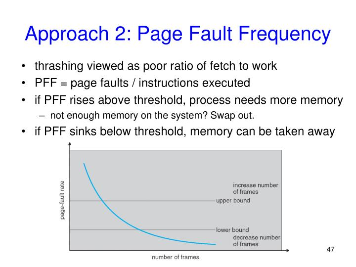 Approach 2: Page Fault Frequency