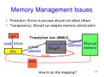 memory management issues