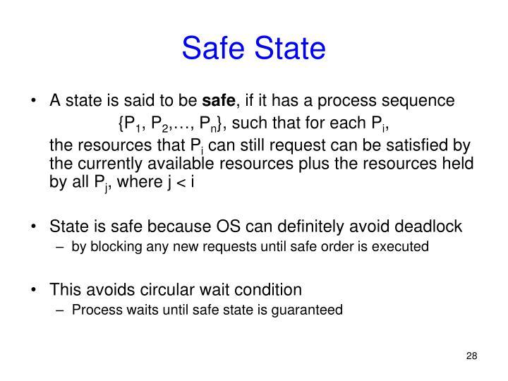 Safe State