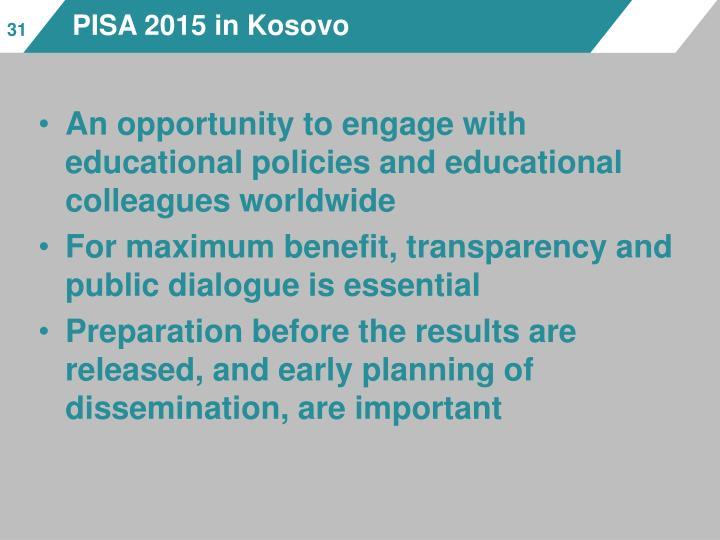 PISA 2015 in Kosovo