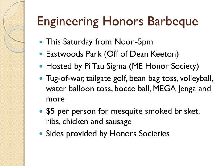 Engineering Honors Barbeque