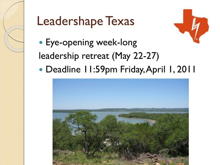 Leadershape Texas