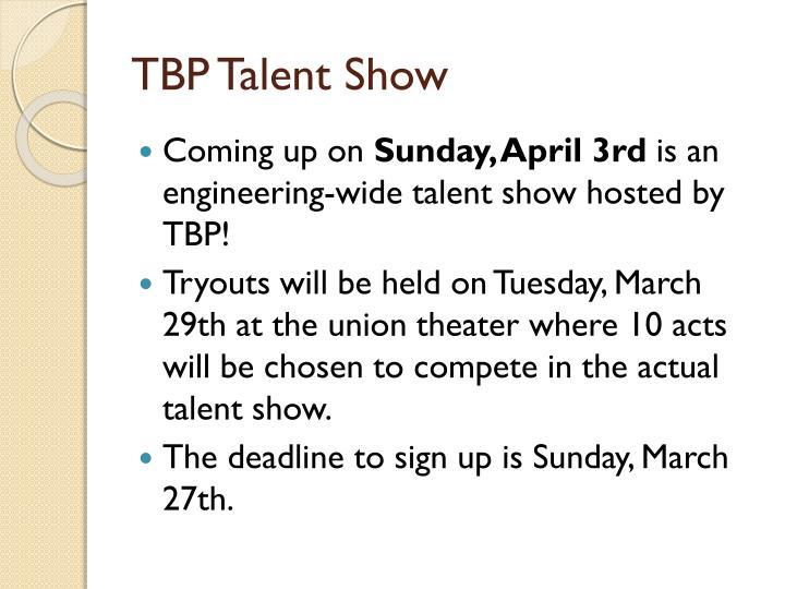 TBP Talent Show