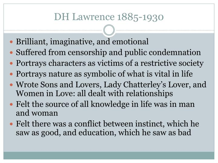 DH Lawrence 1885-1930
