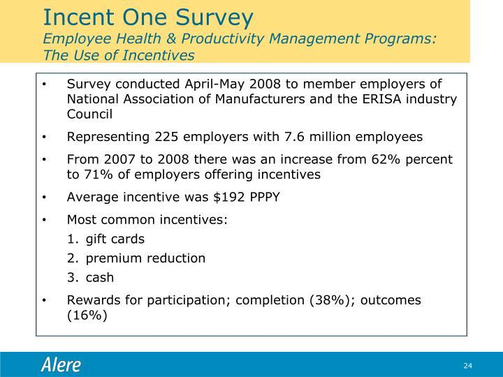 Incent One Survey