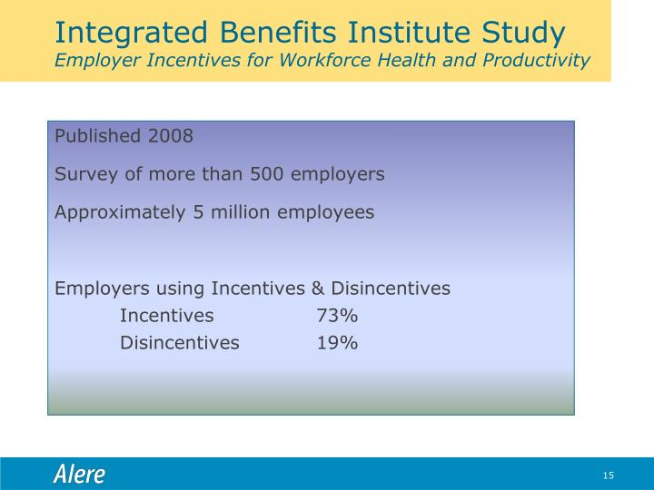 Integrated Benefits Institute Study