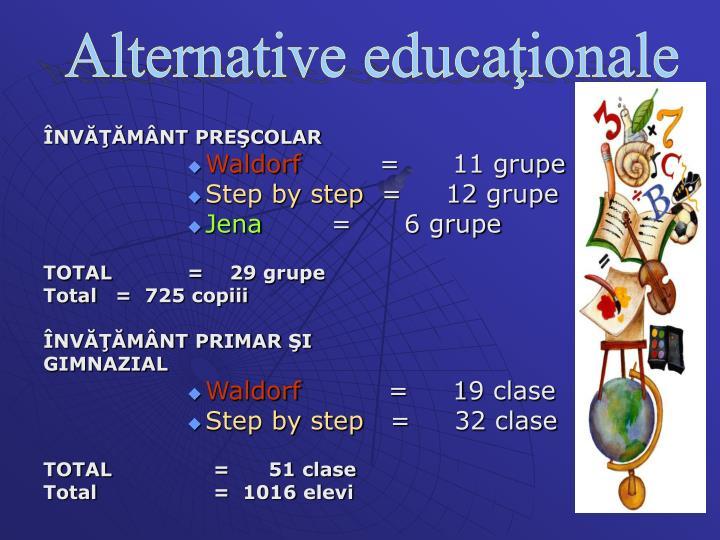 Alternative educaţionale