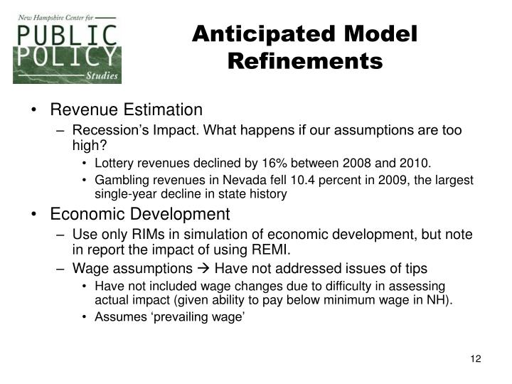Anticipated Model Refinements