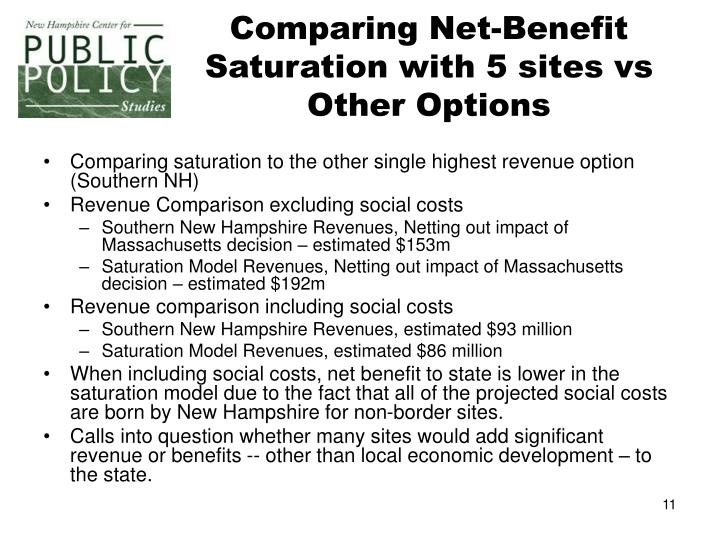 Comparing Net-Benefit