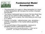 fundamental model assumptions