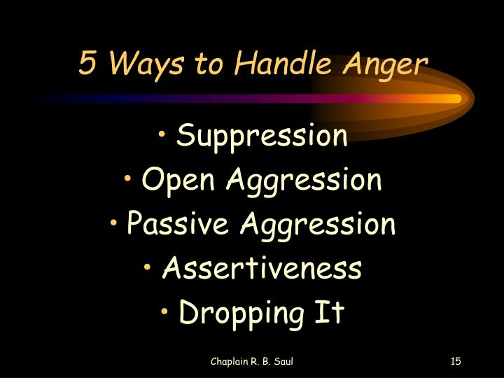 5 Ways to Handle Anger