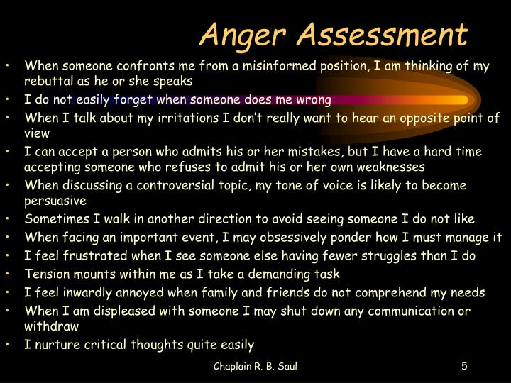 Anger Assessment