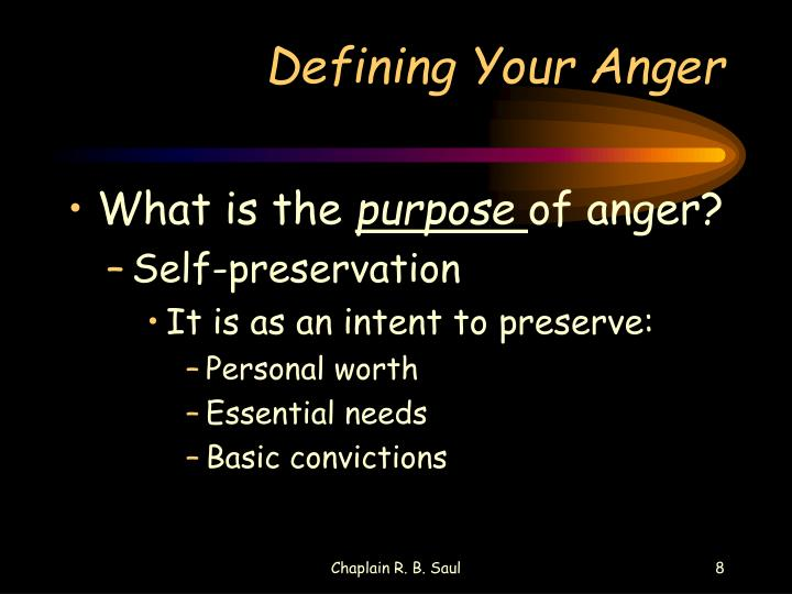 Defining Your Anger