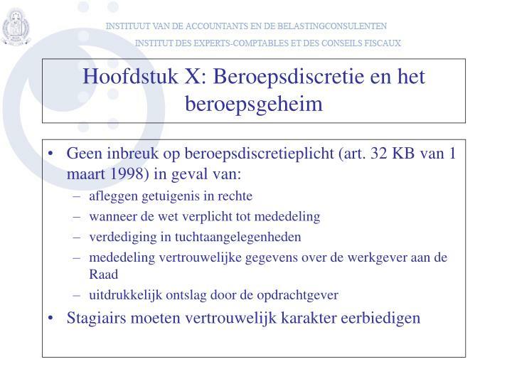 Geen inbreuk op beroepsdiscretieplicht (art. 32 KB van 1 maart 1998) in geval van: