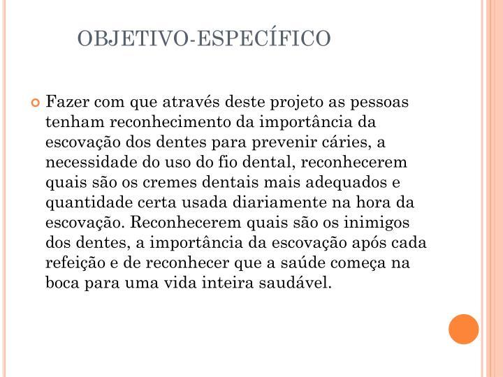OBJETIVO-ESPECÍFICO
