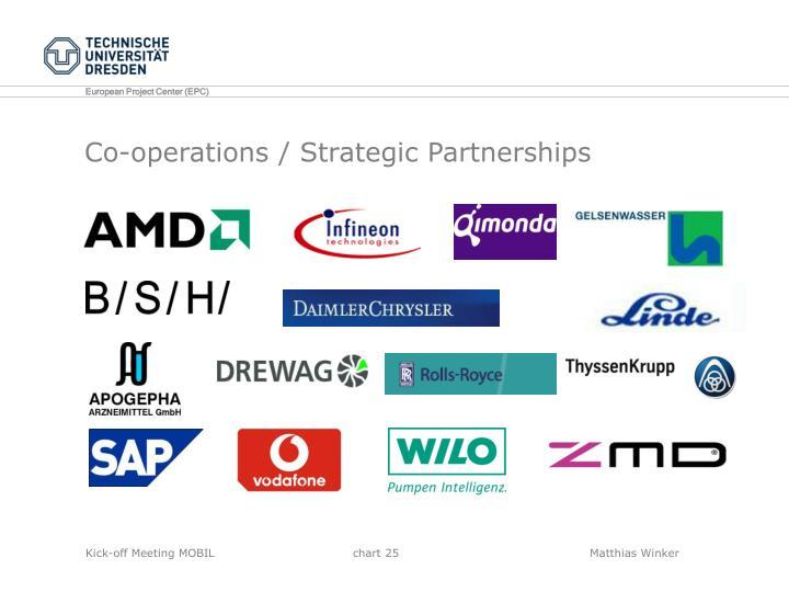 Co-operations / Strategic Partnerships