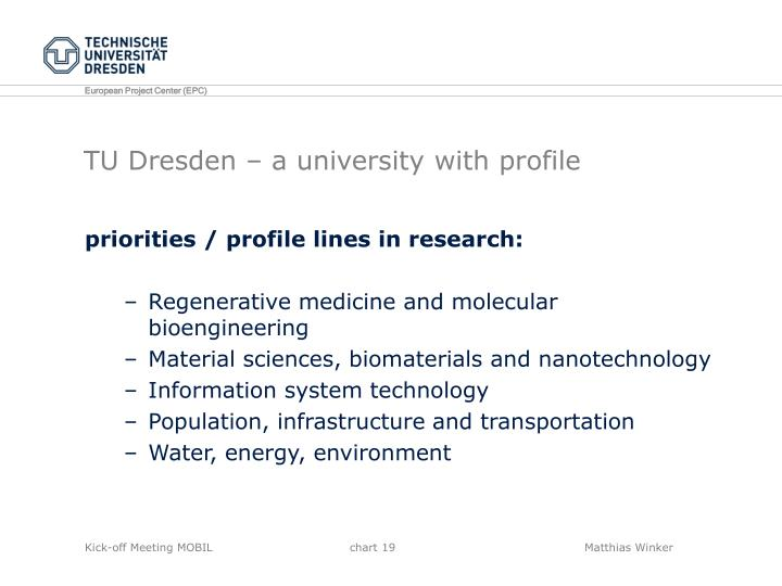 TU Dresden – a university with profile