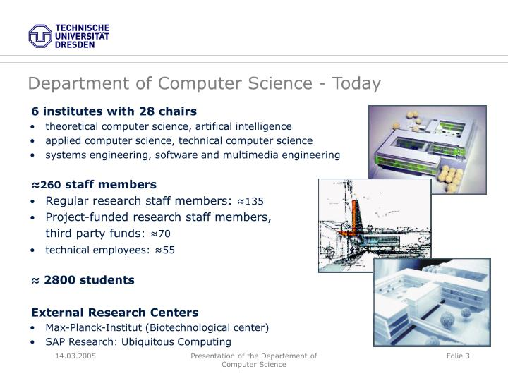 Department of Computer Science - Today