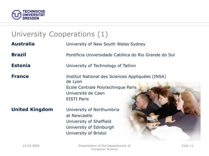 University Cooperations (1)
