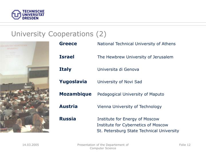 University Cooperations (2)