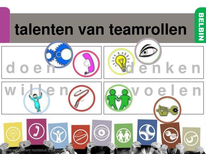 talenten van teamrollen