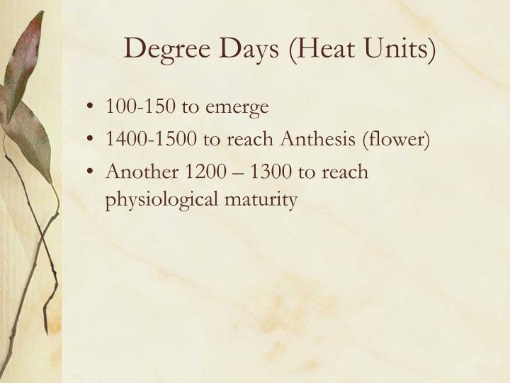 Degree Days (Heat Units)