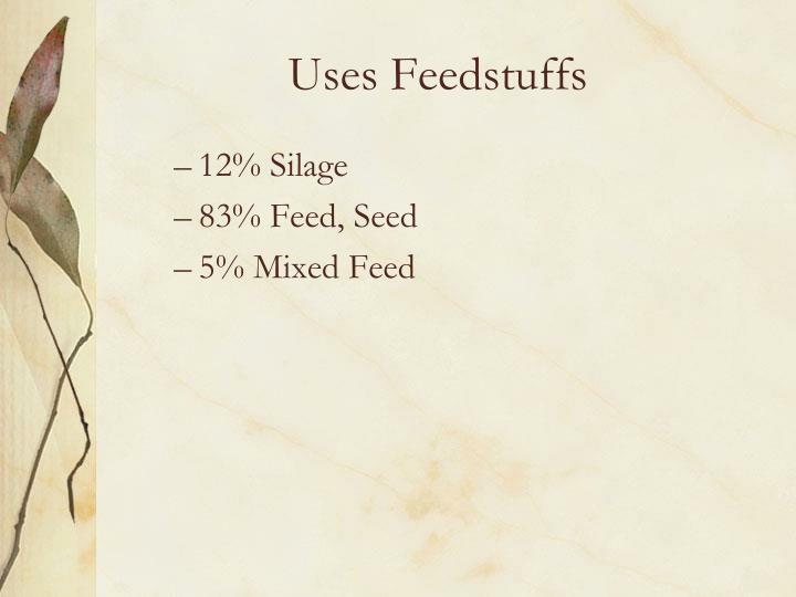 Uses Feedstuffs