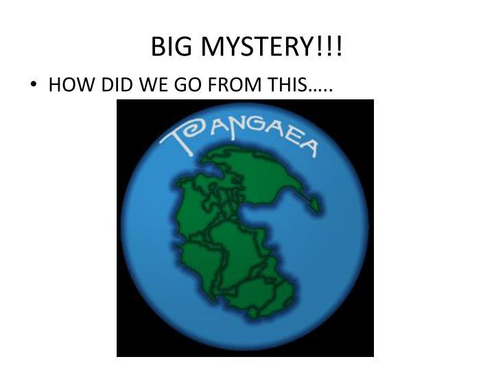 BIG MYSTERY!!!