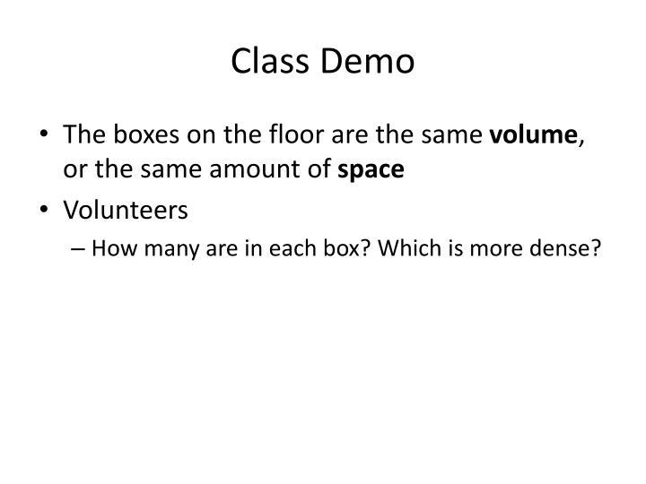Class Demo