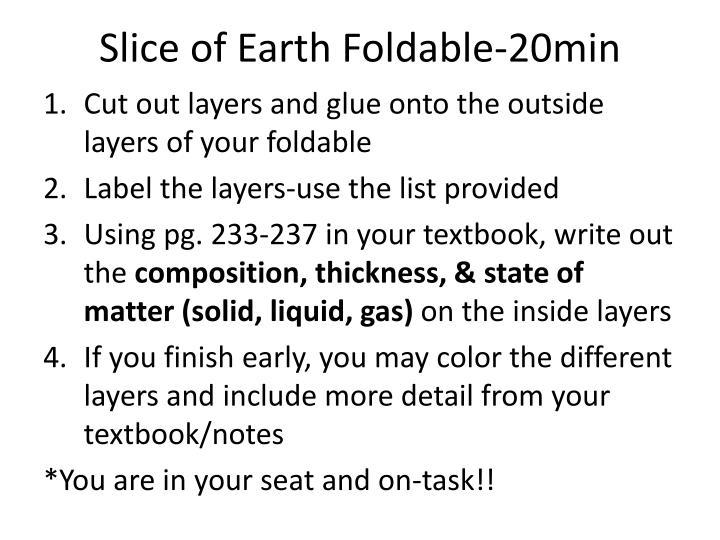 Slice of Earth Foldable-20min