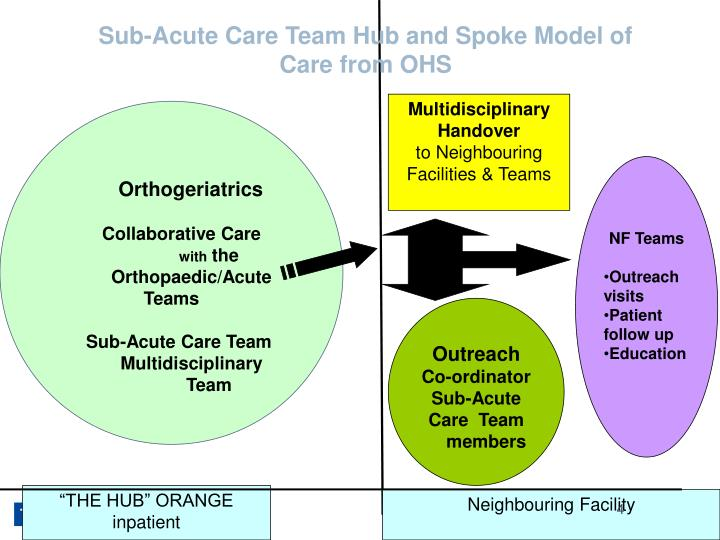 Sub-Acute Care Team Hub and Spoke Model of Care from OHS