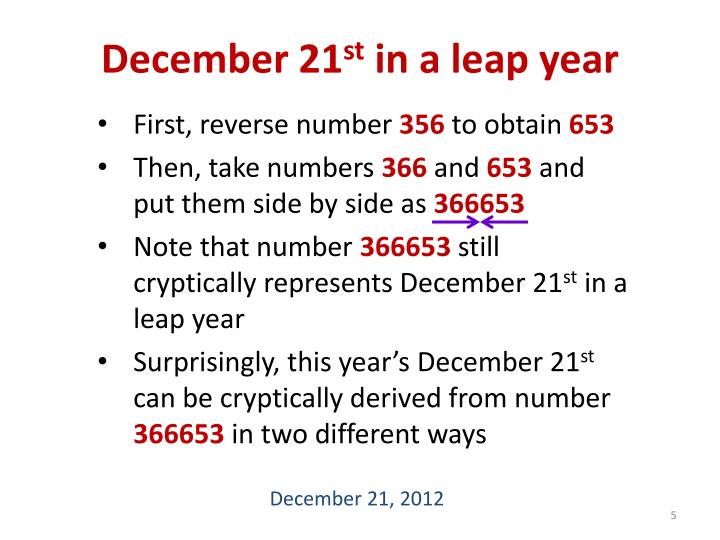 December 21