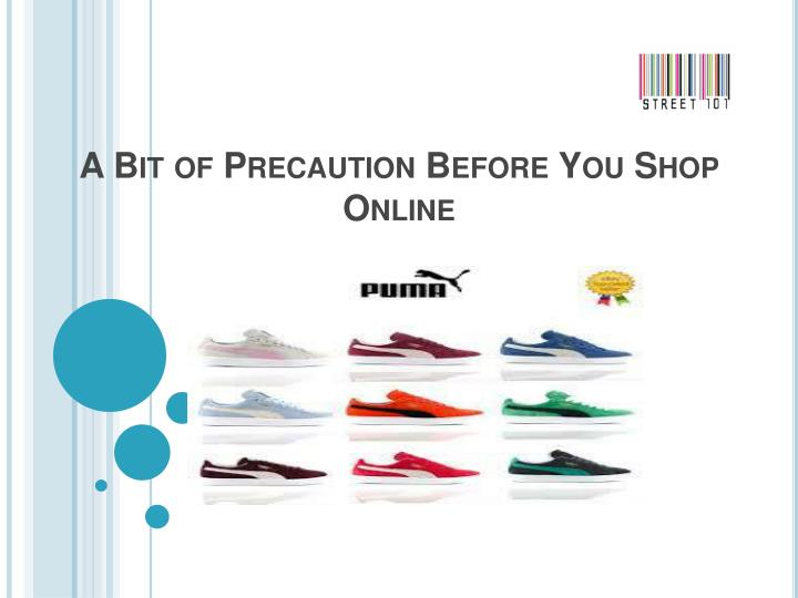 A bit of precaution before you shop online