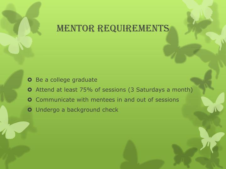 Mentor Requirements