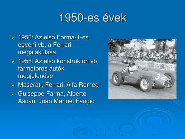 1950-es évek