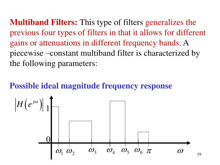 Multiband Filters: