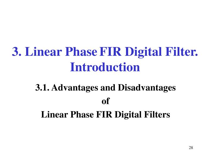 3. Linear Phase