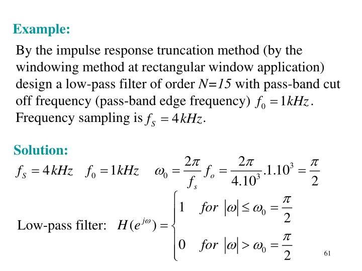 Low-pass filter:
